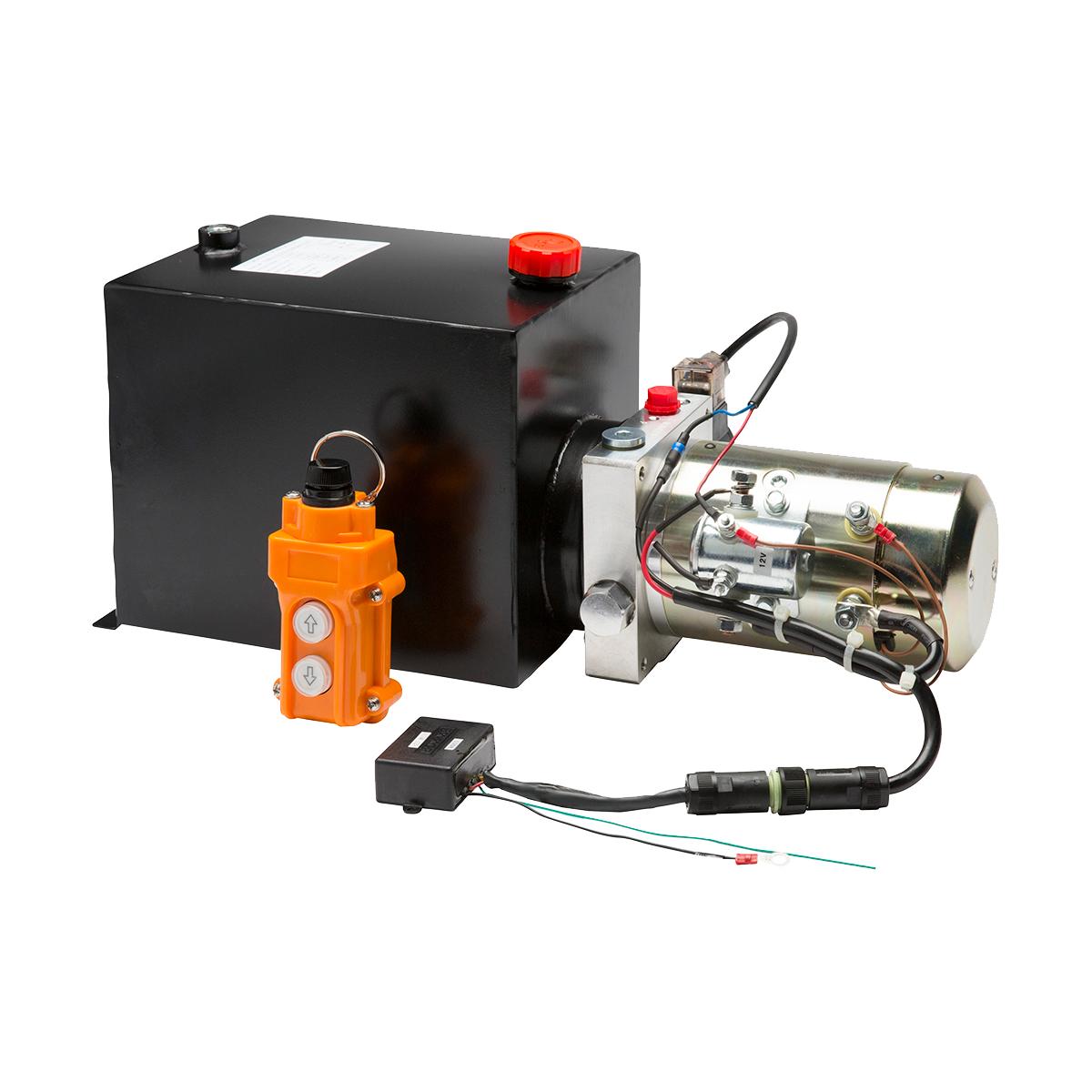 Tipper Hydraulic Power Pack - Gold 12V 10L